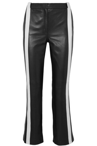 pants cropped leather black