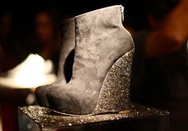 shoes suede suede shoes suede heels zip-up wedges wedge heel glitter heel shoes glitter boots grey heels