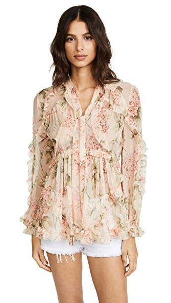 Zimmermann top floral peach