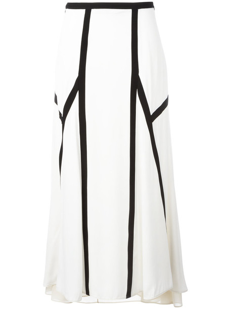 MARNI skirt women spandex white silk