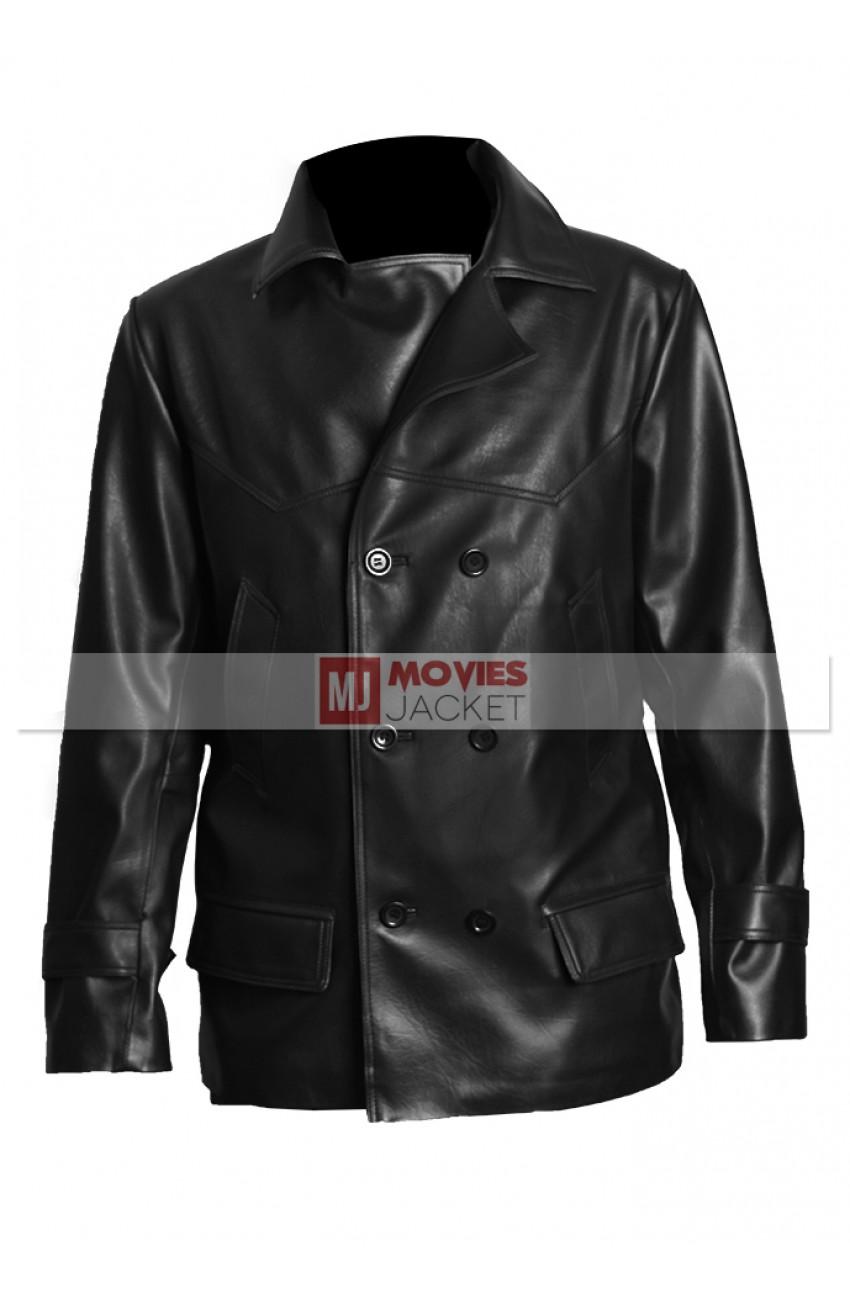 e804d1b5b8f Mickey Rourke Leather Coat
