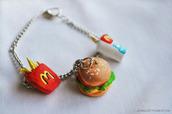 jewels,mcdonalds,charm bracelet