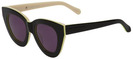 Karen walker thick rim sunglasses in beige (black)