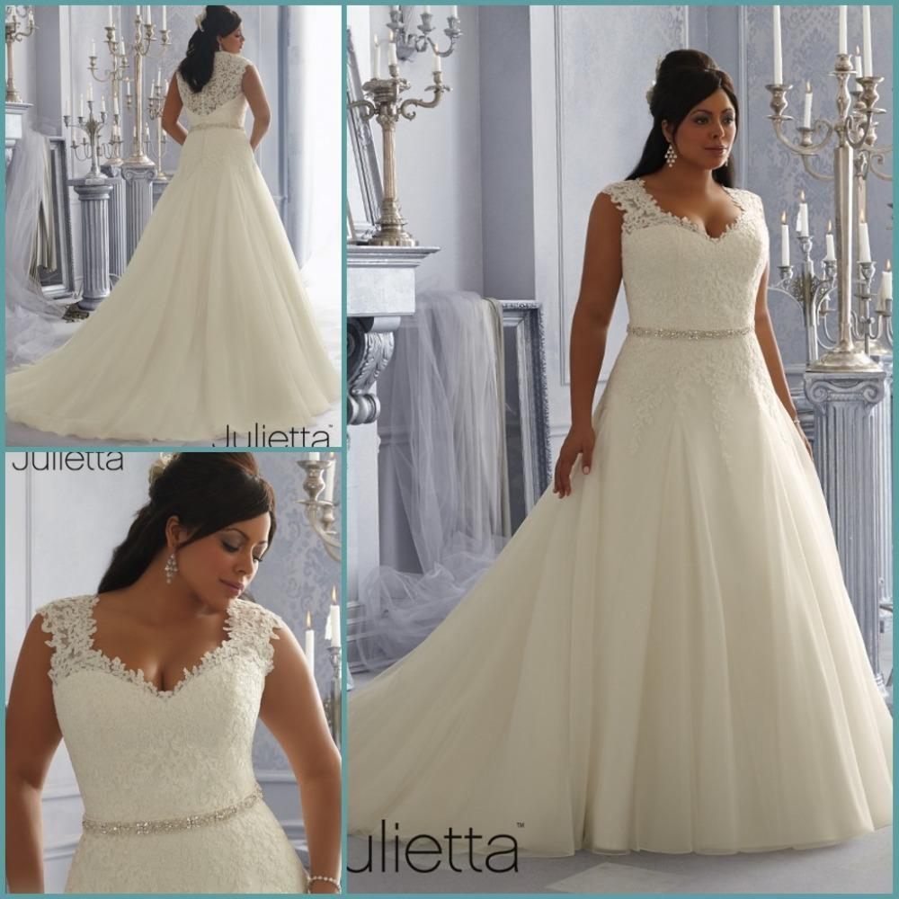 buy best selling a line plus size wedding