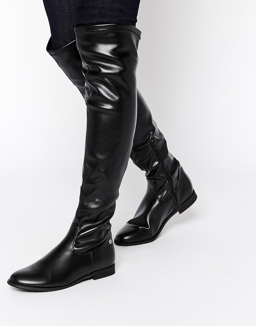 Michelle Flat Over The Knee Boots at asos.com