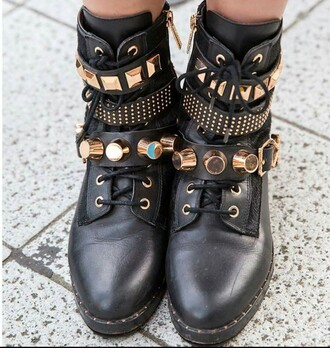 shoes boots studded