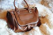 bag,purse,leather bag,brown leather bag