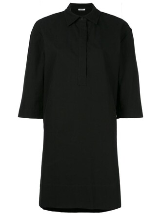 dress shirt dress women cotton black