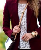 t-shirt,shirt,white,jacket,blouse,burgundy jacket,blazers online for women,blazer,burgundy