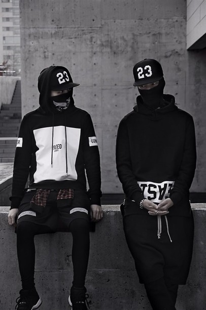 sweater trill white blvck black fashion street goth hoodie pullover hat streetwear tumblr outfit style urban black sweater urban menswear blvck menswear mens sportswear mens cap black and white black hoodie black and white hoodie