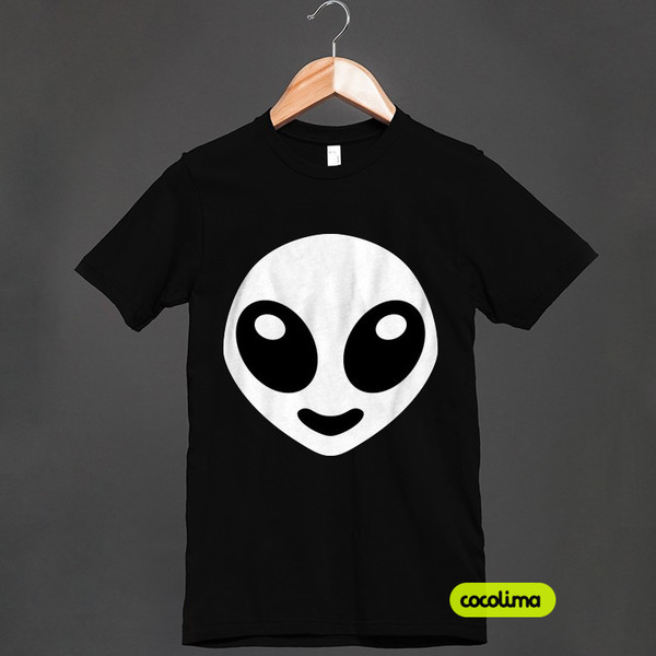 t-shirt alien dubstep music extraterrestre outlander skrillex concert style party hard teenagers teenagers smiley smiley weirdo weird girl weird weird shirt black and white