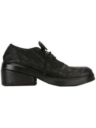 heel chunky heel shoes lace-up shoes lace black