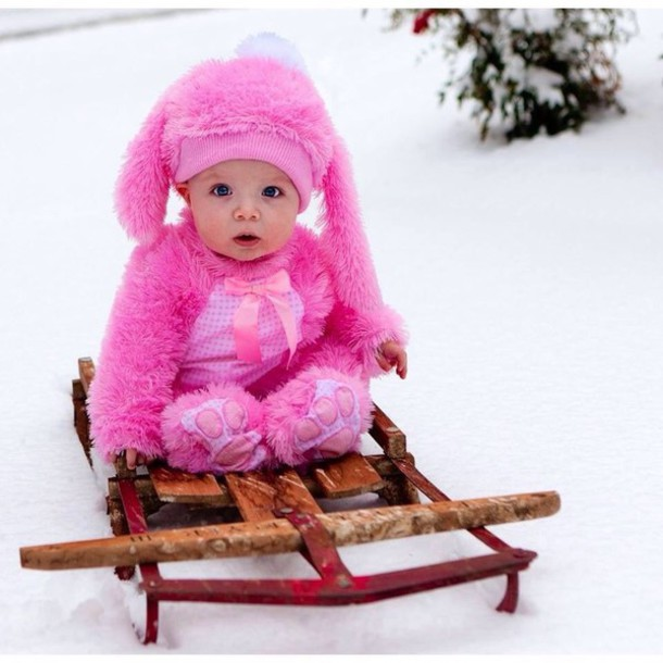 kids fashion bunny baby clothing cute girly kids fashion costume fluffy winter sports