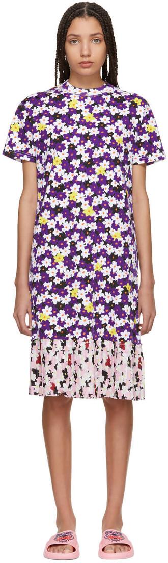 dress shirt dress t-shirt dress floral multicolor