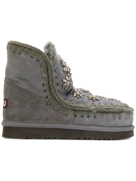 Mou fur women wool grey shoes