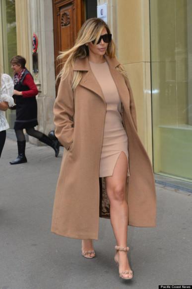 coat coats  jackets  outerwear  trench coats  ruffles kim kardashian nude