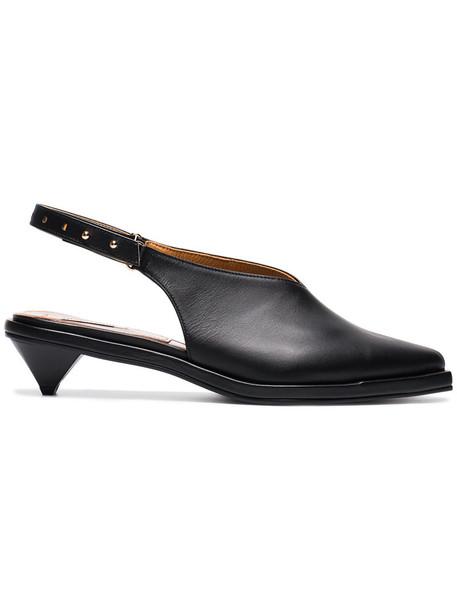 Reike Nen women pumps leather black shoes