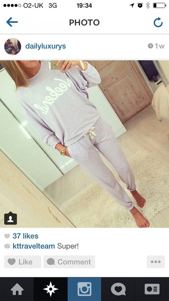 sweater tracksuit fashion weekend grey sweater