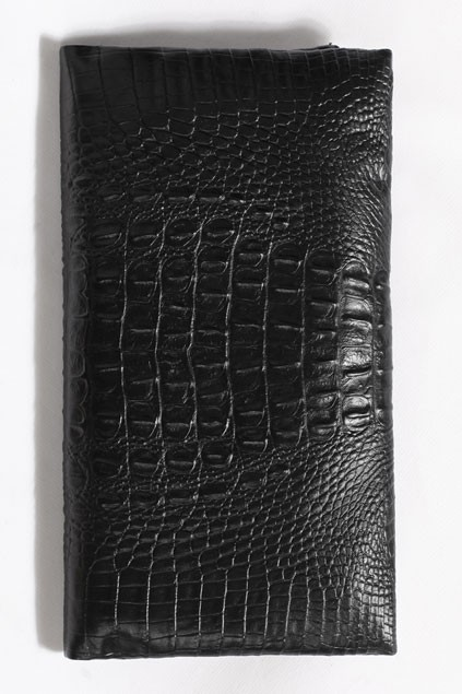 Mock Croc Effect  Fold Over Clutch - OASAP.com