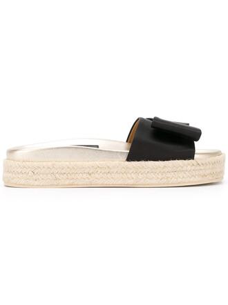 women sandals leather black satin shoes
