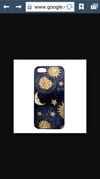 moon star sun phone case
