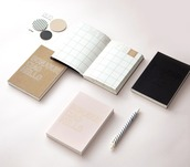 home accessory,mochithings,notebook,quote on it,pastel pink,agenda,planner,desk,stationary,back to school,book