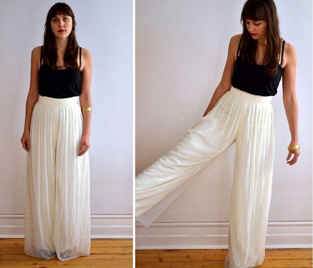 pants flowy pants loose ruffle dress flowy fancy