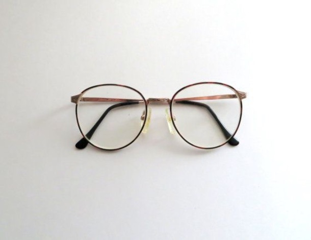 glasses eyewear round wire glasses