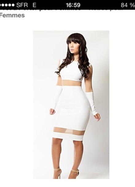 dress white bodycon midi dress