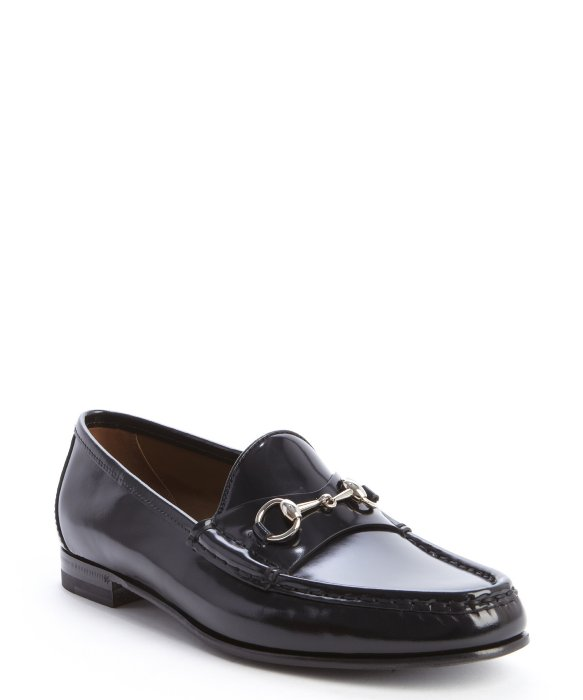 Gucci black leather buckle detail slip-on loafers | BLUEFLY up to 70% off designer brands