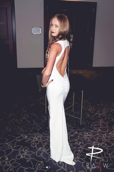 formal white dress formal dress