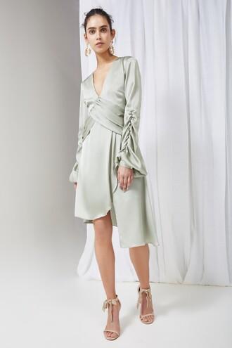 dress long sleeve dress long dark
