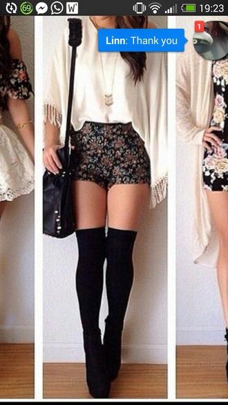 shorts floral black short hipster hipster shorts boho chic leggings shoes