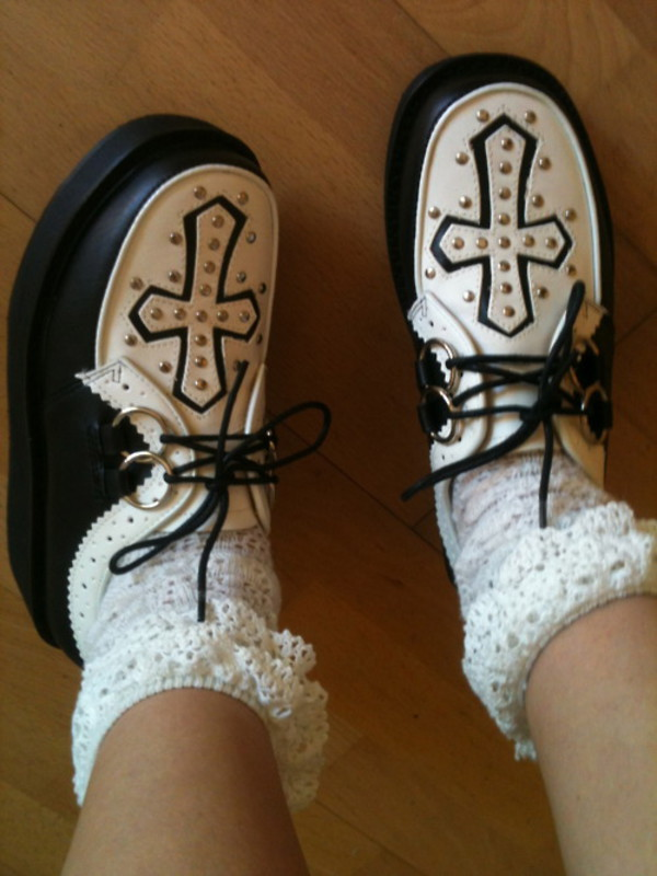shoes grunge goth hipster pastel goth creepers tumblr