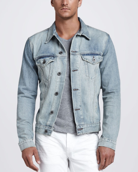 J Brand Blue Owen Light Wash Denim Jacket