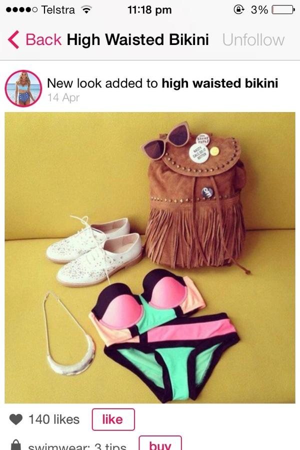 swimwear cute high waisted bikini high waisted bikini bag sunglasses