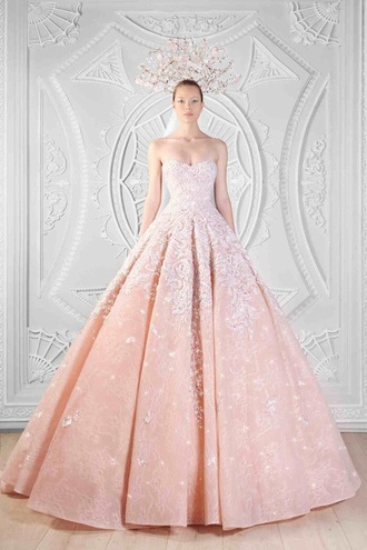 dress pink dress rami kadi long dress strapless dresses