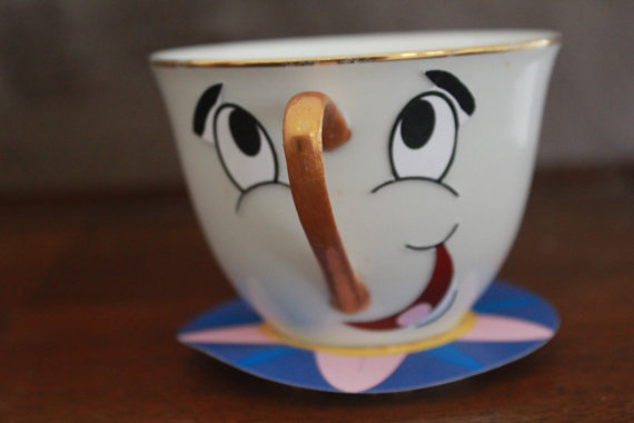 Beauty and the beast chip the teacup diy by kreationsparties