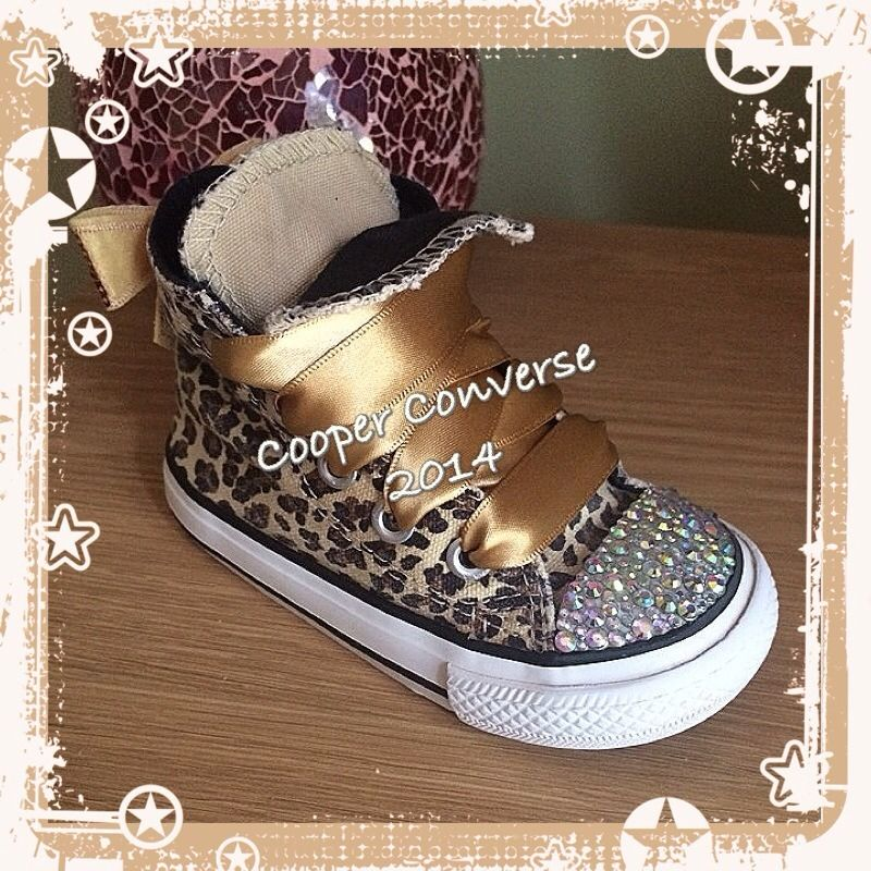 Stunning Customised Infant UK 5 21 Leopard Print Converse All Star ... a896d1a9f