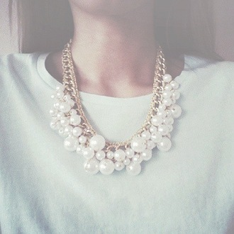 classy fashion jewels pearl chain necklace