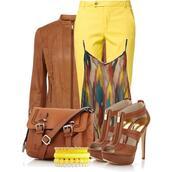 shirt,clothes,shoes,jacket,bag,jewels,pants,brown,crossbody bag