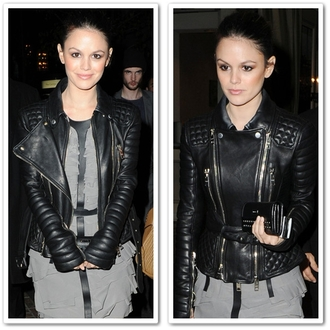 clutch leather jacket leather dress black rachel bilson