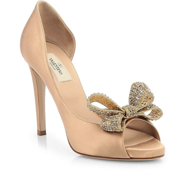 Valentino jewelry couture satin d'orsay pumps