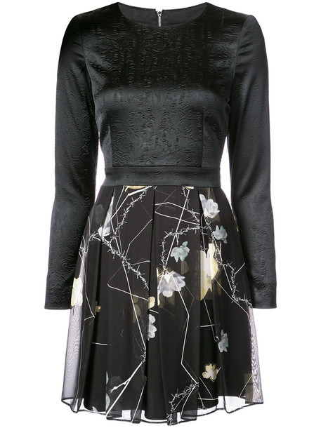 Thomas Wylde dress women spandex floral black