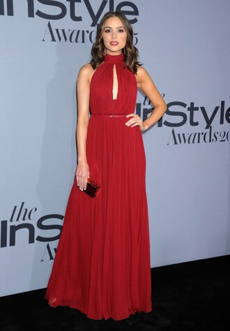 dress gown olivia culpo red dress maxi dress prom dress
