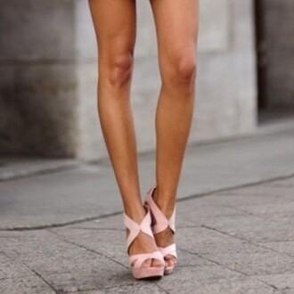 shoes high heels pink light pink cute beautiful summer shoes heels