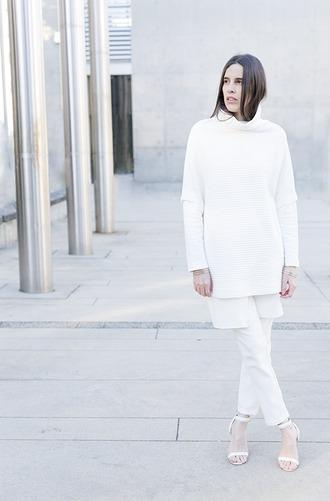 pants melissa araujo blogger white sandals turtleneck