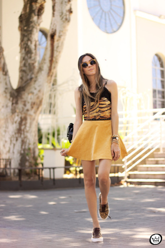fashion coolture blogger skirt sunglasses animal print summer outfits