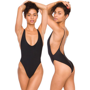 Backless one piece swimsuit (black/white) · nouveau craze · online store powered by storenvy