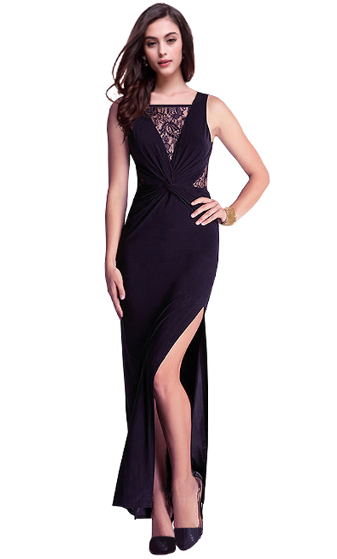 Sexy black vest maxi club dresses, wholesale fashion dress